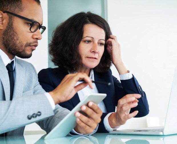 professionals using gadgets
